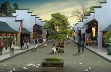 仿古街道模型