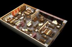 红木家具卖场三维模型