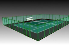 3d网球场模型