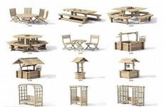 园林休闲设施模型
