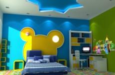3d可爱儿童房模型
