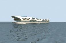 创意水上建筑模型