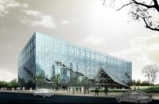 3d玻璃建筑大厦模型