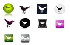 twitter小鸟系列图标