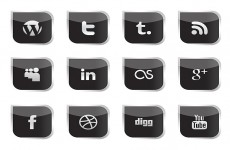 黑色社交媒体图标