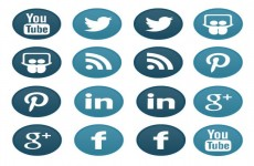 蓝色媒体标志图标