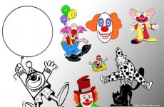 有趣的派对小丑笔刷