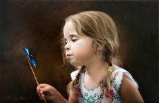静谧的人物油画作品