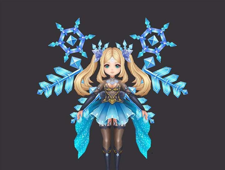 3D人物模型:冰霜女精灵