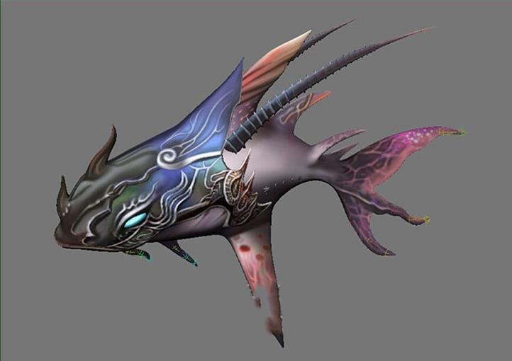 Maya模型:深海鱼
