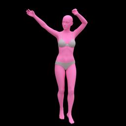 舞动人物姿势3D模型