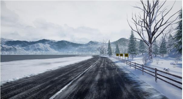 UE4雪地场景模型