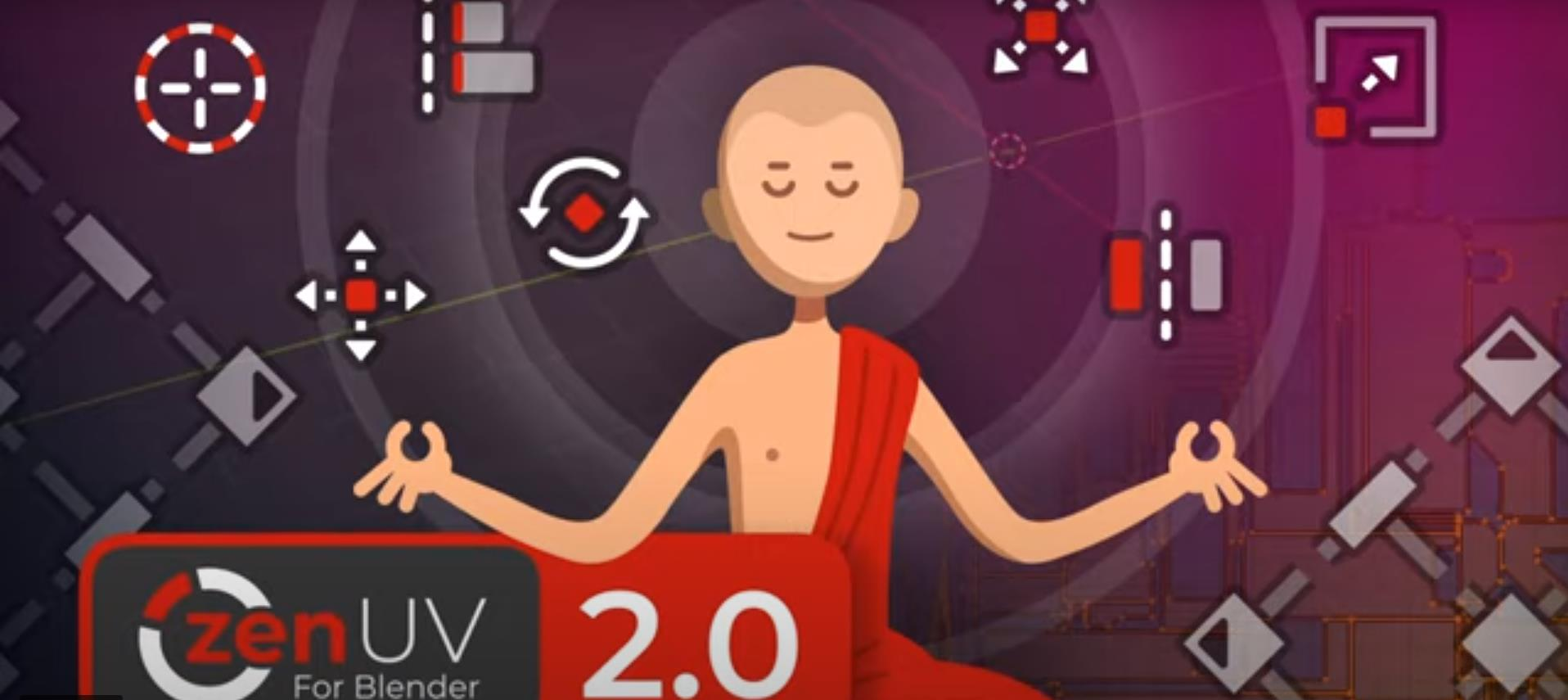 Blender的Zen UV已经更新 新功能介绍
