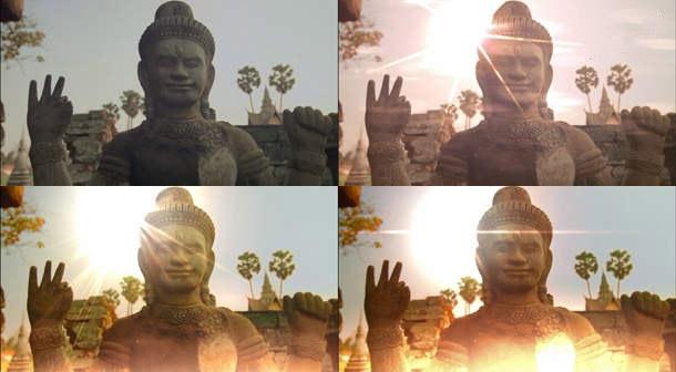 为画面添加阳光耀斑和漏光的插件 Sunny Day v1.0