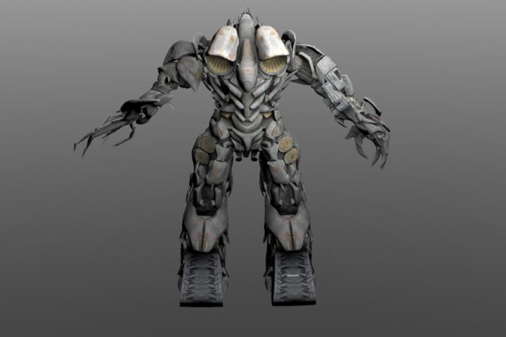 3D游戏模型:变形金刚擎天柱