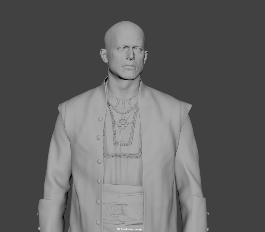 ZBrush角色模型制作:船长
