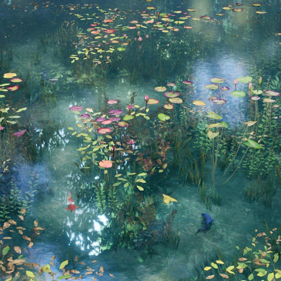 在UE4中制作漂亮的池塘场景