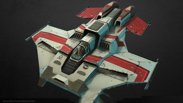 3D模型:科幻飞船