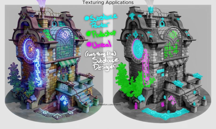 UE4制作动画风格的房子