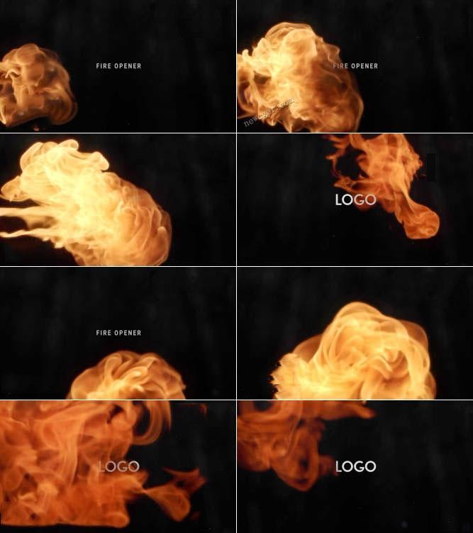 火焰燃烧开场特效AE模板