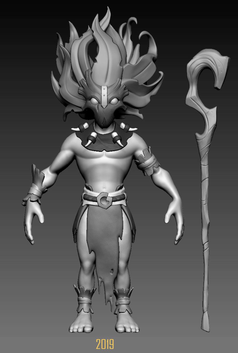 在Maya和ZBrush中制作角色模型