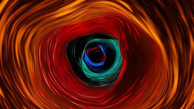 霓虹发光隧道视频素材