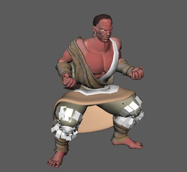 Maya动作模型