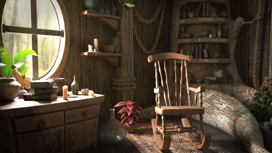 Maya制作绿色小屋模型