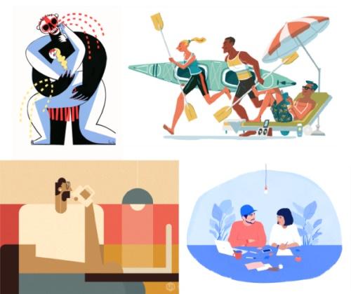 掌握不同的插画风格,只需要两招!