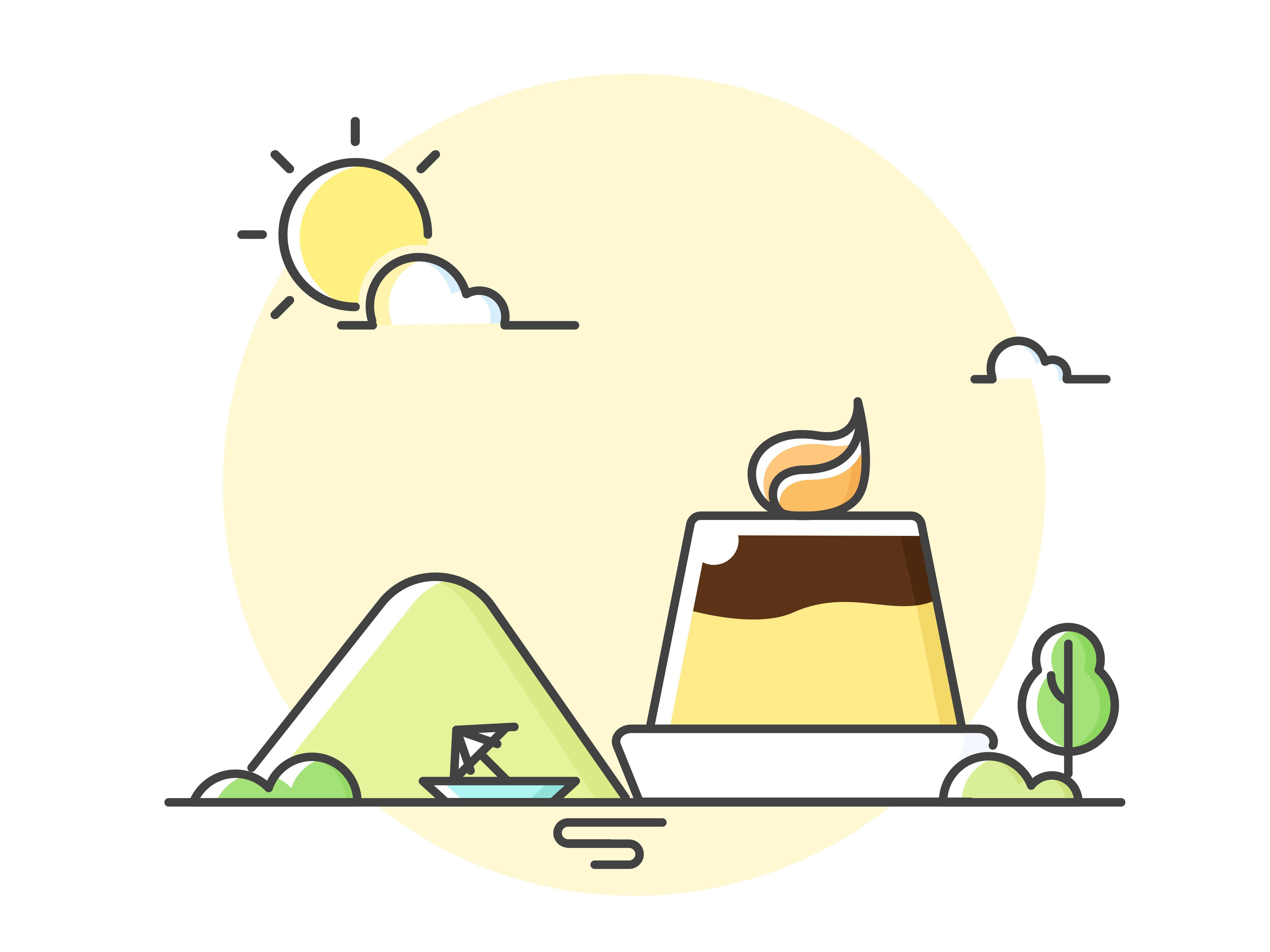 夏天插画Ai素材