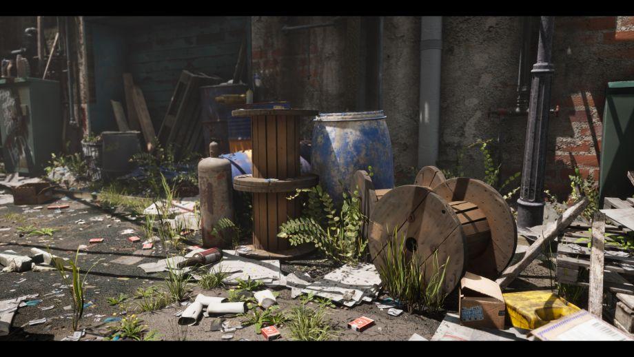 使用UE4制作废弃小巷场景