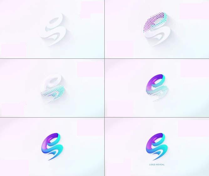 马赛克logo动画AE模板