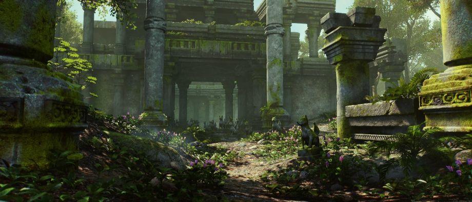使用UE4和SpeedTree制作丛林场景