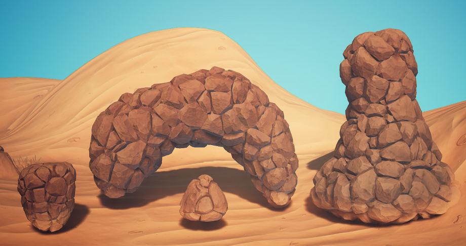 使用UE5与ZBrush制作风格化沙漠场景