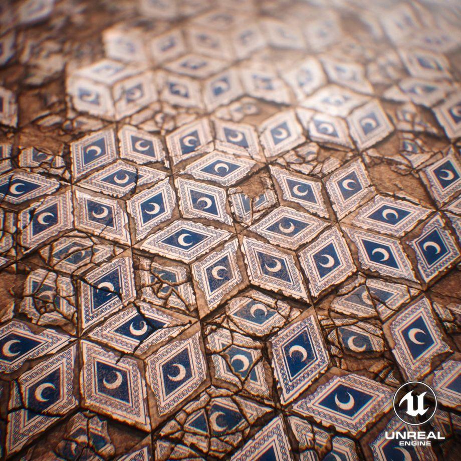 在Substance Designer和UE5中创建地砖材料
