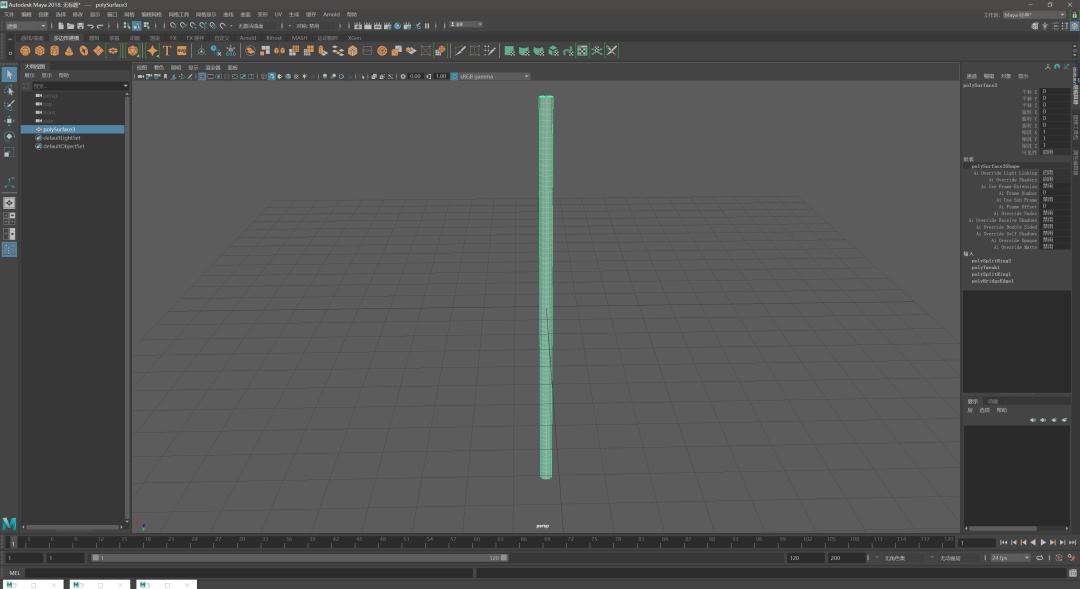 如何使用Maya制作绳索模型