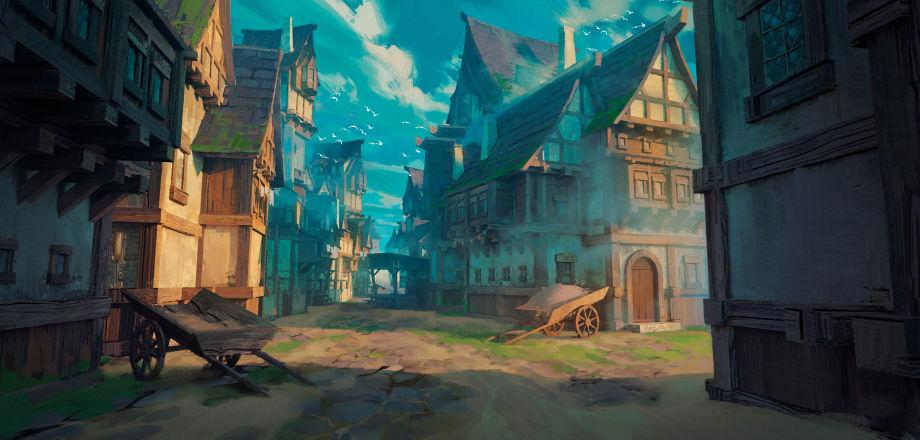 在UE4中制作中世纪小镇场景