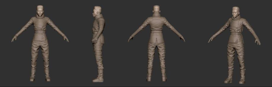 使用ZBrush制作射击游戏角色模型