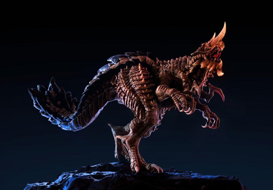 在ZBrush中制作怪兽模型