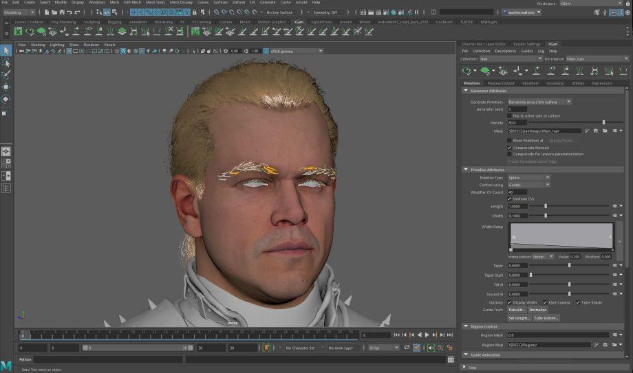在Maya和ZBrush中制作战士模型