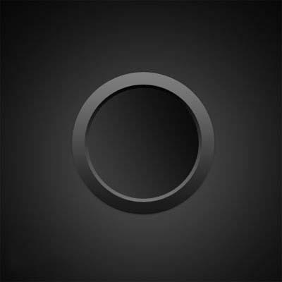 PS制作黑色质感开关按钮