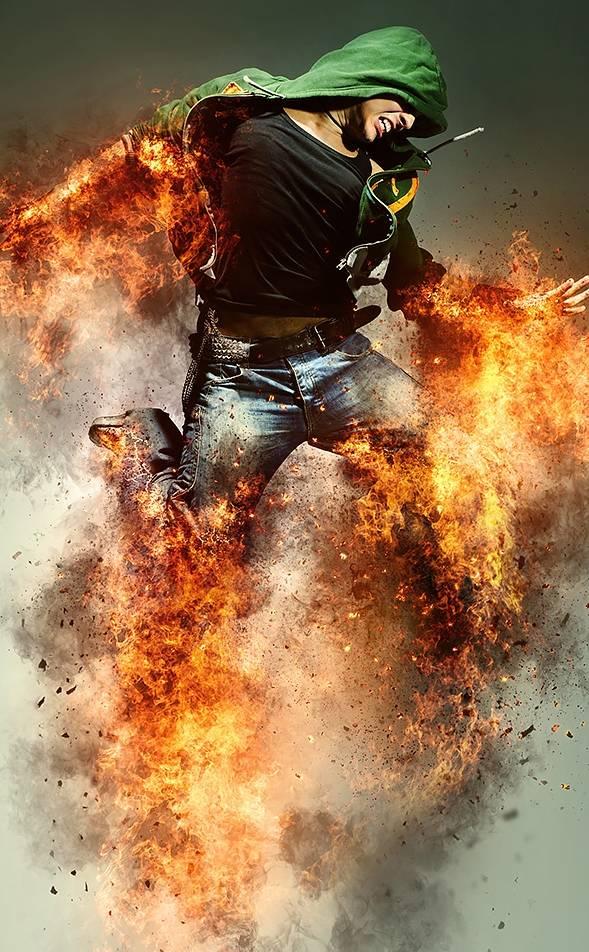 PS制作超酷炫的爆炸火焰特效