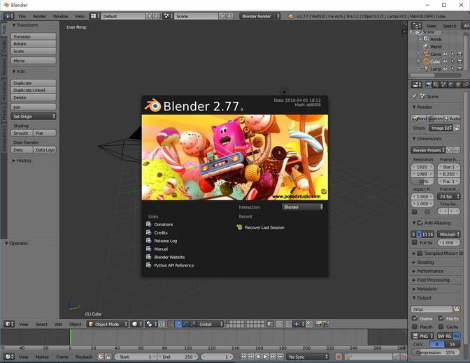 三维动画软件blender安装教程