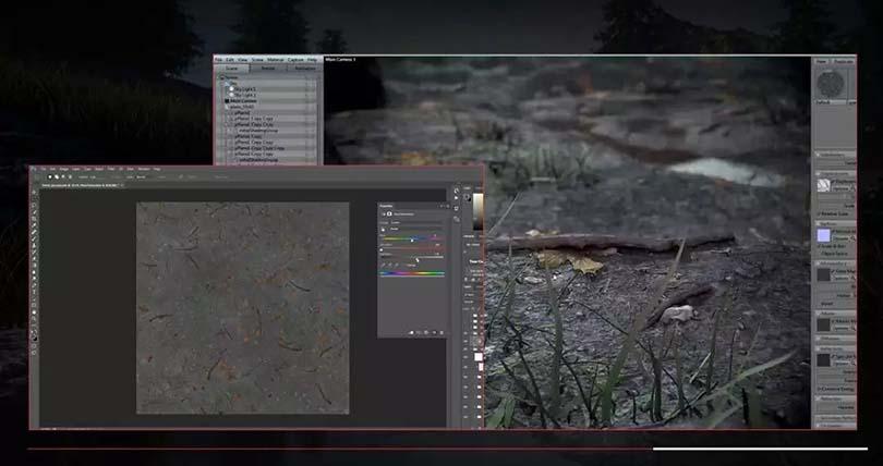 Maya场景纹理贴图绘制案例教程之与Marmoset组合实用