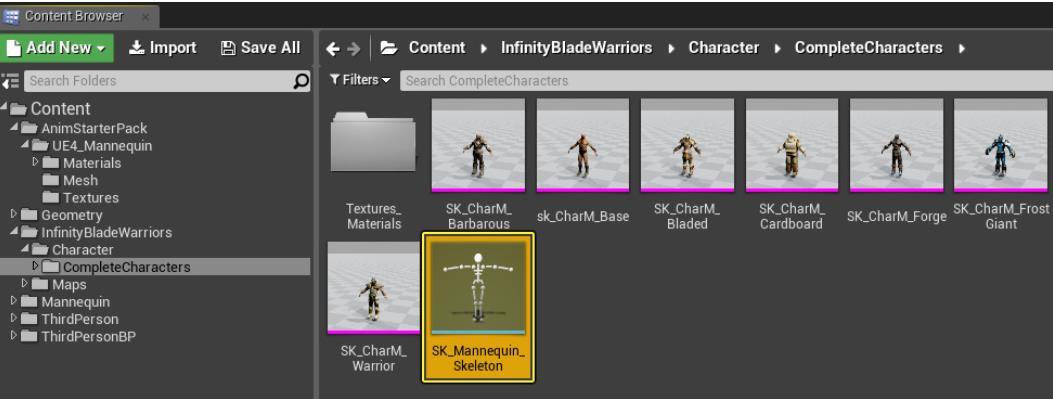 UE4如何制作不同骨架的重定位动画