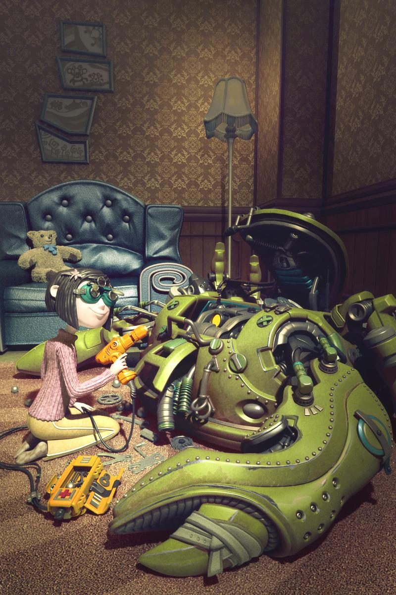 3D角色设计师敬伟