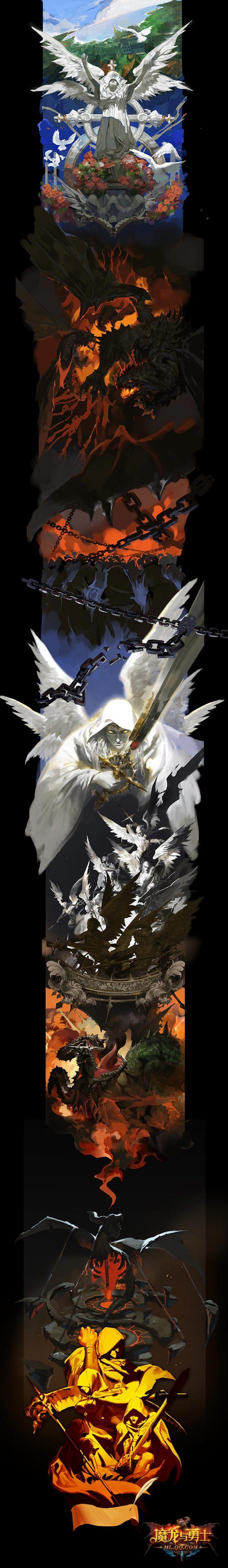 魔龙与勇士宣传图设计师红时作品