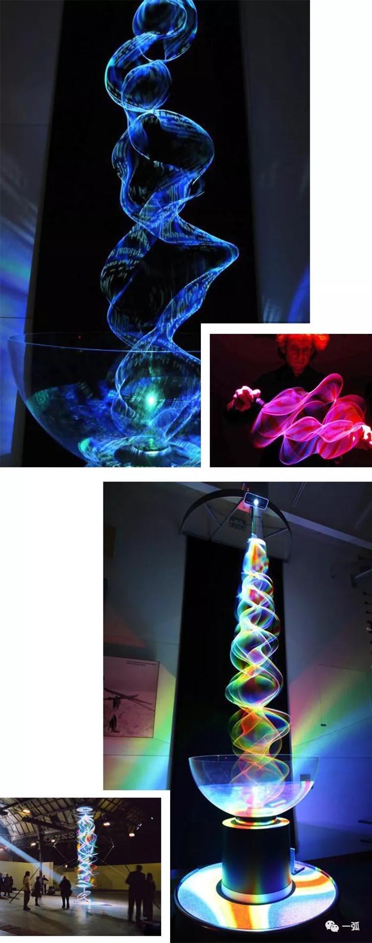 跨界艺术家的灯光雕塑