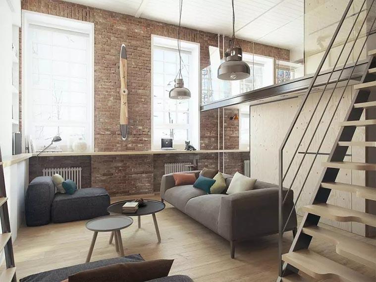 Loft装饰特点之原始画壁