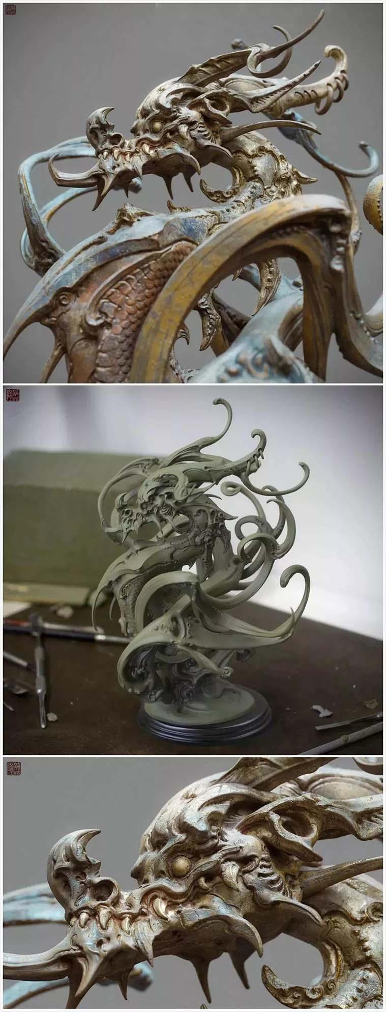 中国艺术家许喆隆  作品《龙》